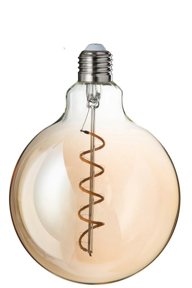 J-line Ledlamp G125 Amber Spiral E27-78827-5415203788276