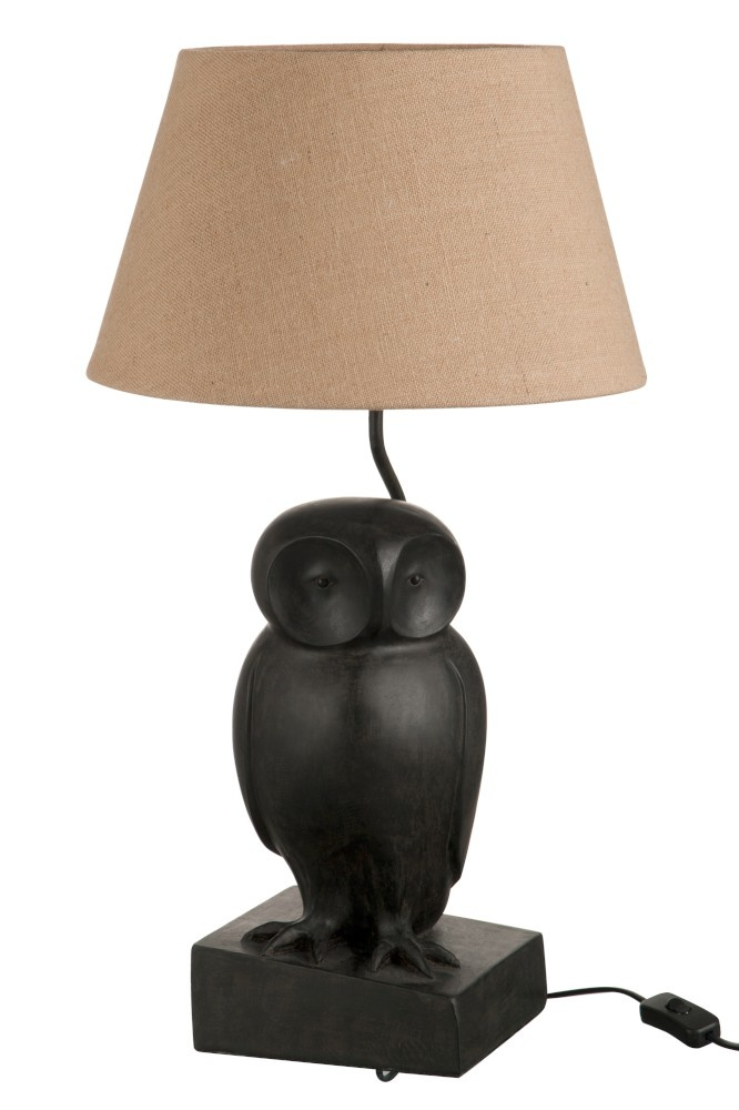 J-line Lamp Uil Poly Donkerbruin