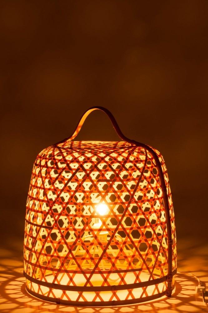 J-line Lamp Grond Rond Bamboe Naturel