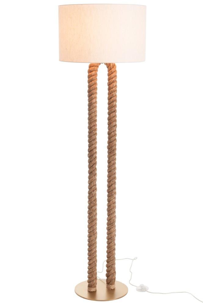 J-line Lamp Staand Pilaar Touw U-Vorm Jute Naturel