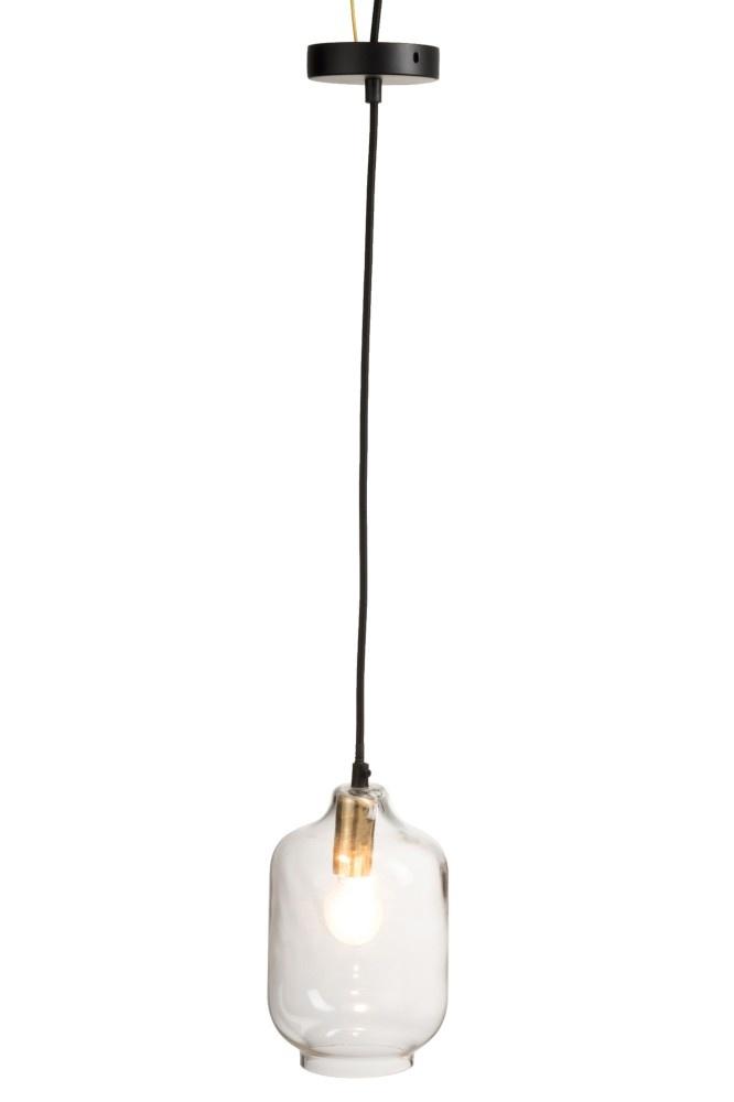 J-line Hanglamp Cilinder Glass Transparant