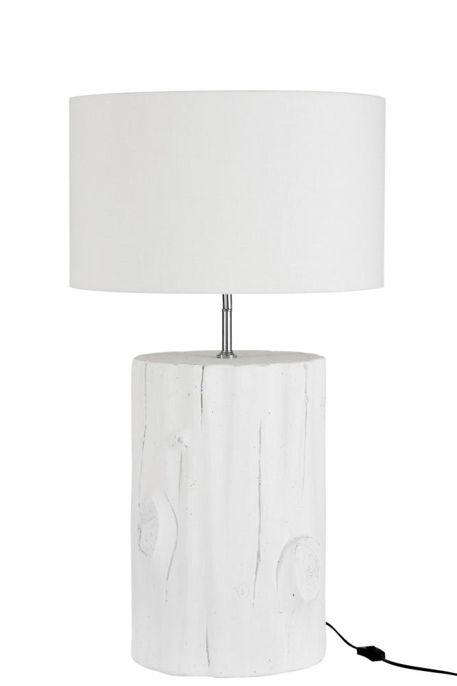 J-line Lampvoet+Kap Cement Wit Large