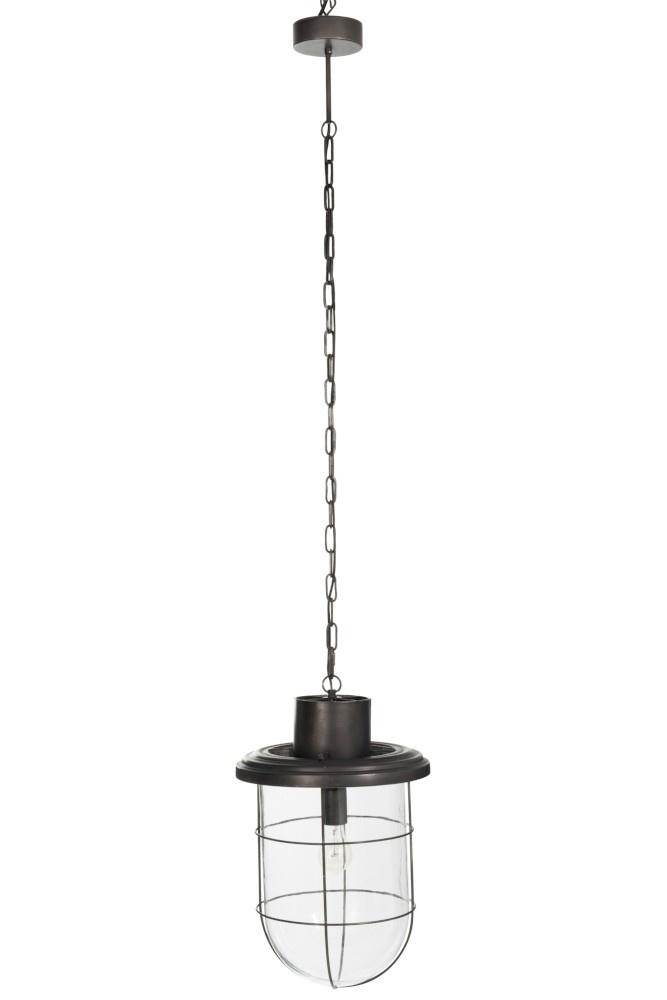 J-line Hanglamp Rond Metaal Zwart