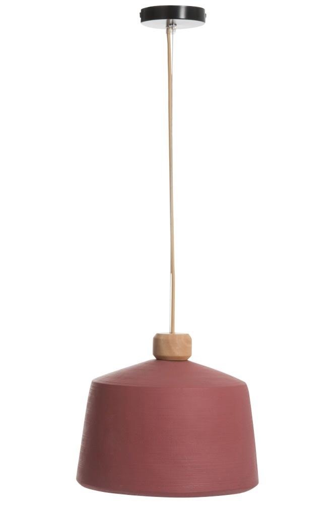J-line Hanglamp Rond Cement Roze