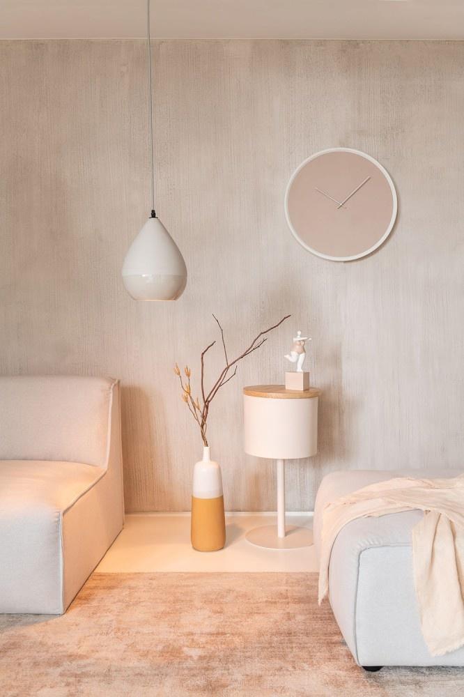J-line Hanglamp Peervorm Porselein Grijs-83846-5415203838469