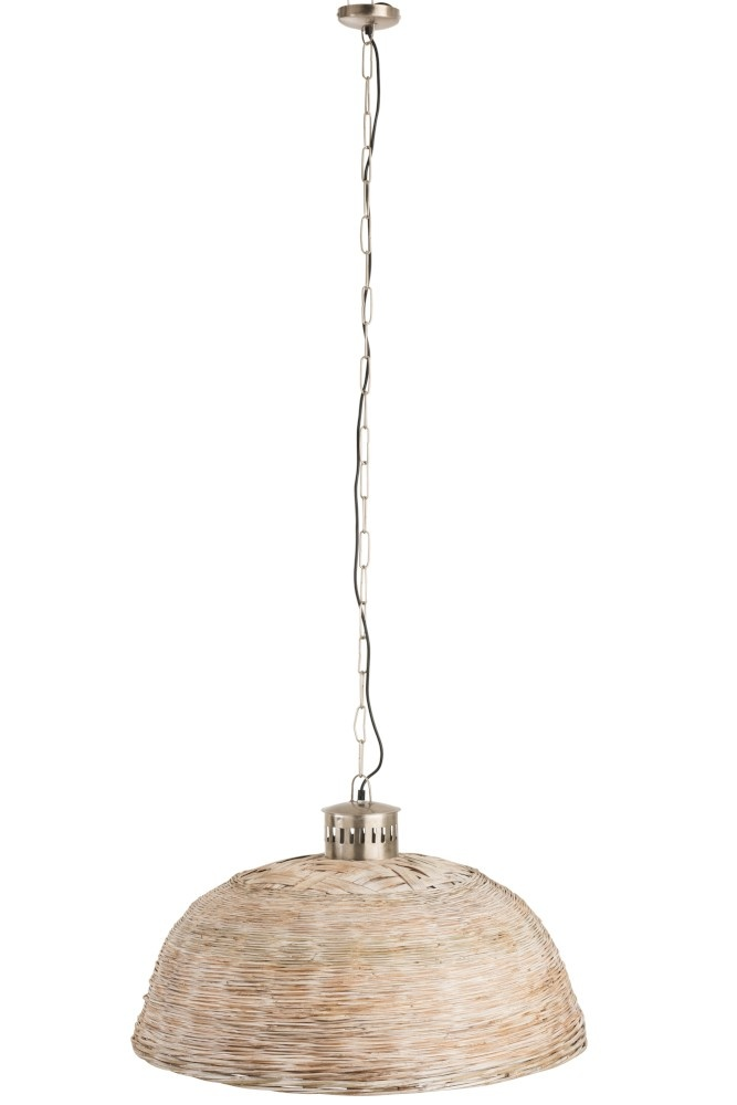 J-line Hanglamp Rond Bamboo Beige Medium-85177-5415203851772