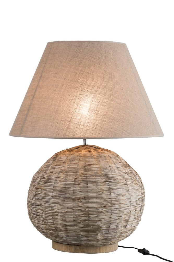 J-line Lamp Rond Bamboo Beige-85178-5415203851789