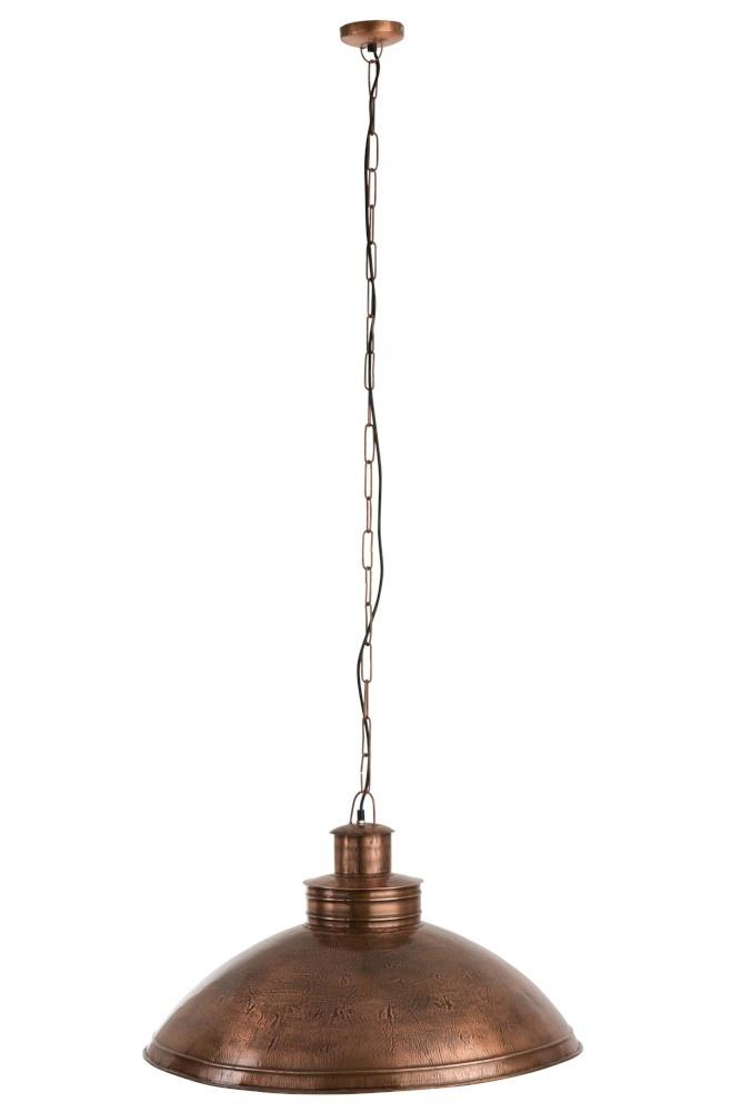 J-line Hanglamp Plat Rond Metaal Koper-85206-5415203852069