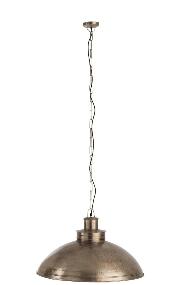 J-line Hanglamp Plat Rond Metaal Zilver-85217-5415203852175