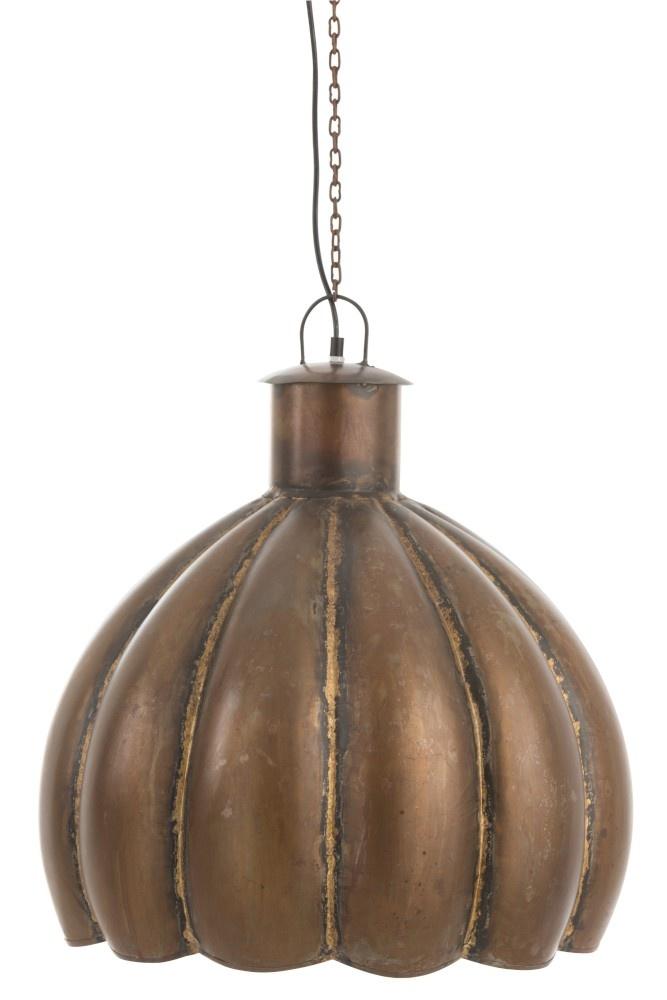 J-line Hanglamp Bloem Rond Metaal Bruin-85219-5415203852199