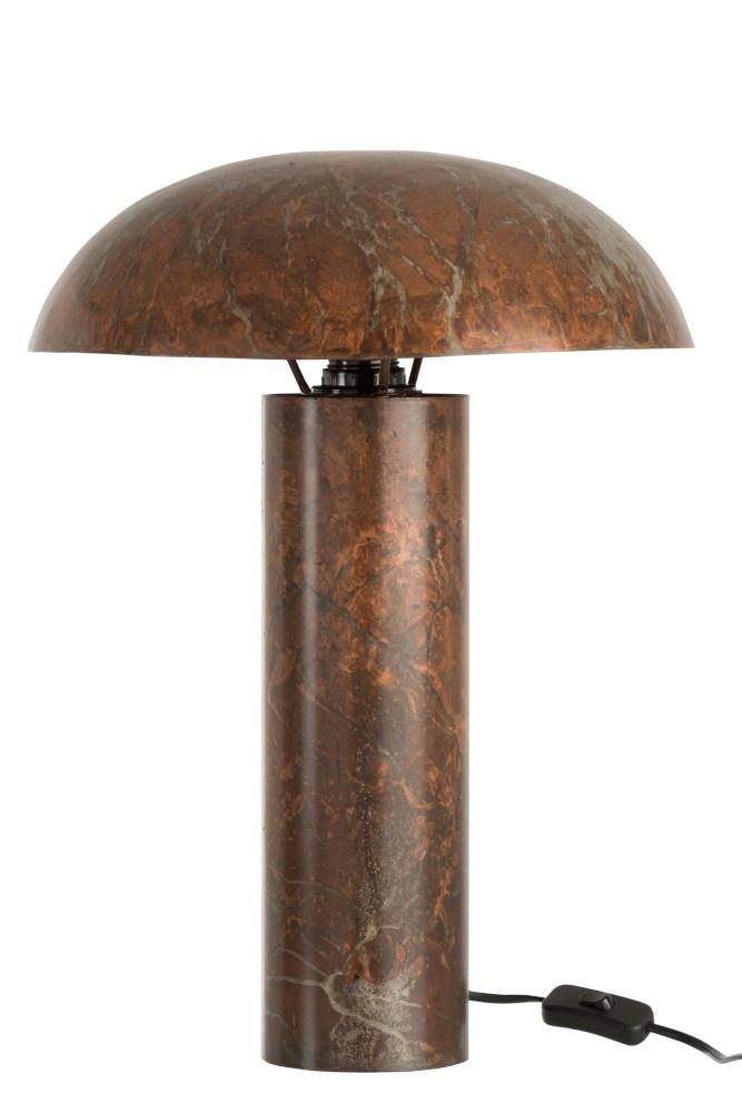 J-line Tafellamp Paddenstoel IJzer Oud Bruin Large-85283-5415203852830