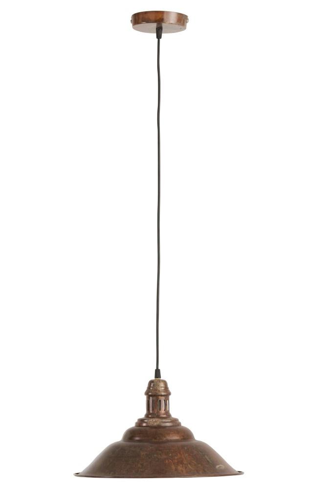 J-line Hanglamp Plat IJzer Oud Bruin-85285-5415203852854