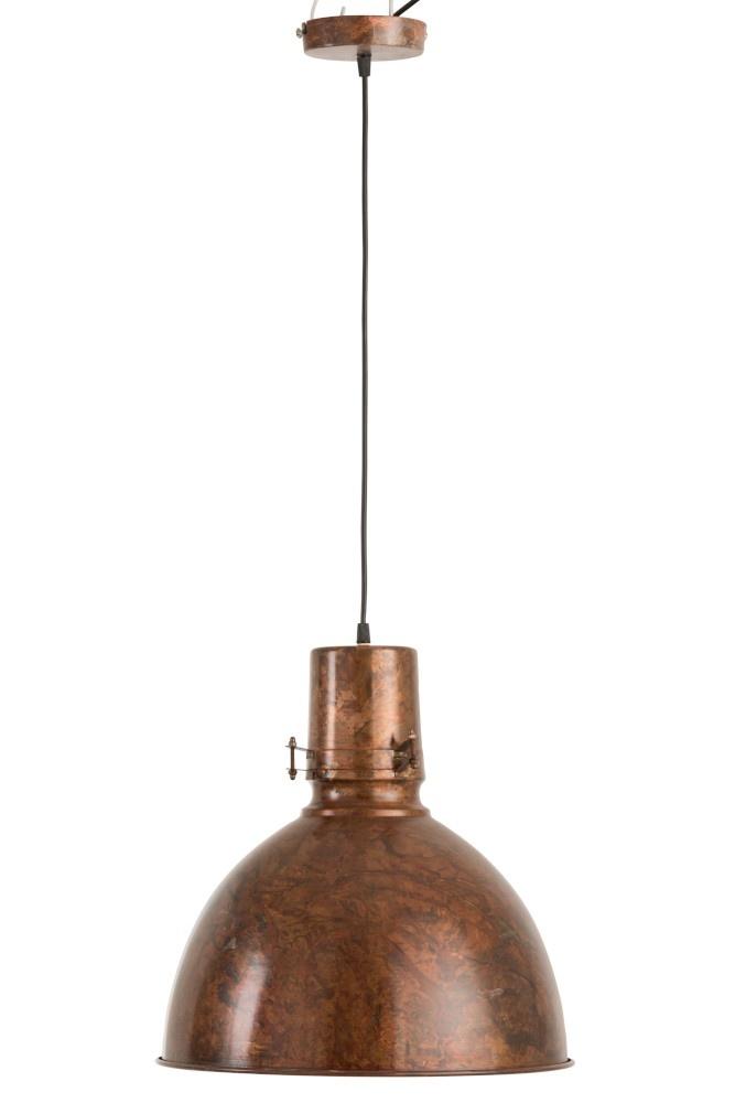 J-line Hanglamp Bol IJzer Oud Bruin-85286-5415203852861