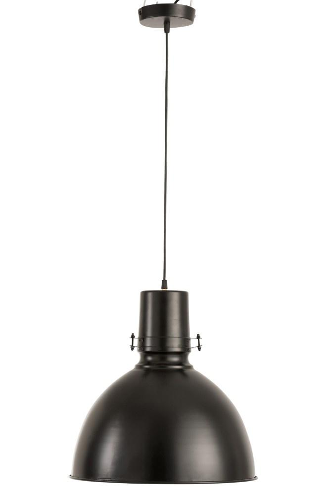J-line Hanglamp Bol IJzer Zwart