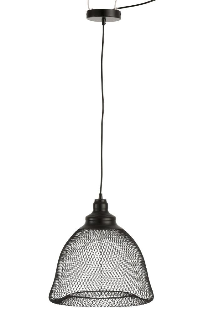 J-line Hanglamp Belvorm Metaal Zwart L-85332-5415203853325
