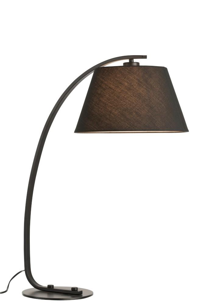 J-line Tafellamp Boog Metaal Zwart
