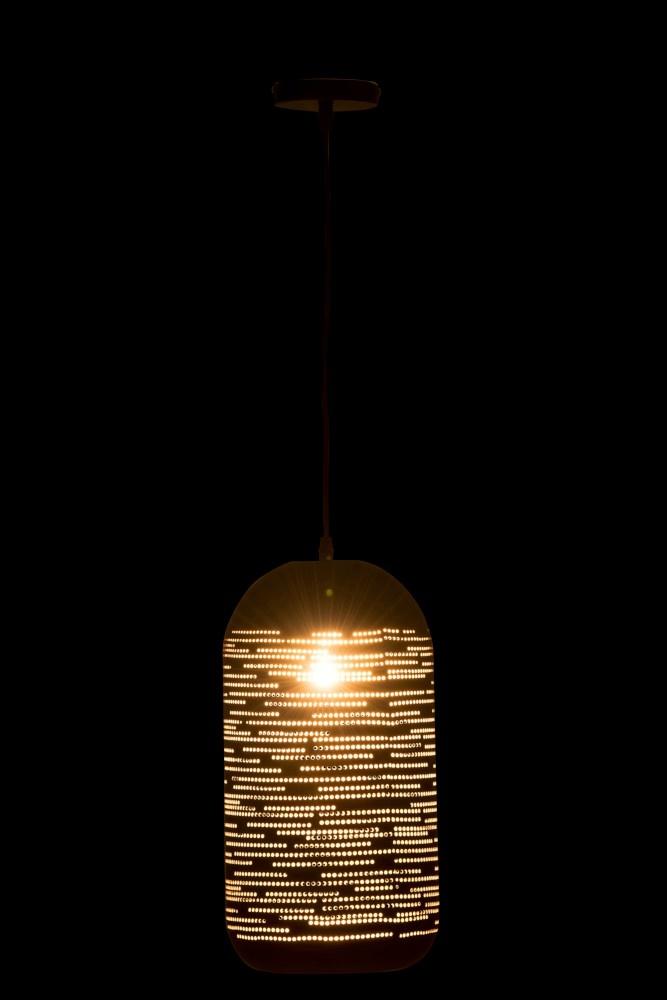 J-line Hanglamp Open Gaatjes Metaal Zwart/Goud