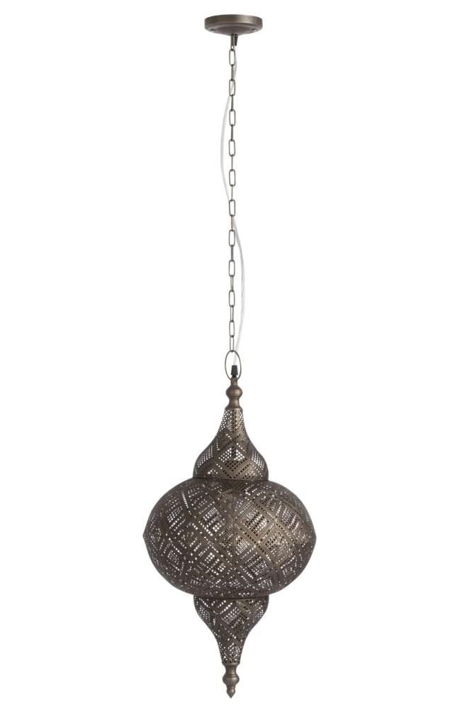 J-line Lamp Oosters Metaal Small Antiek Bruin