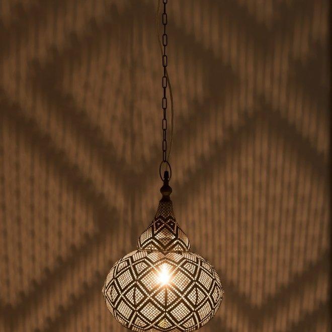 J Line Lamp Oosters Metaal Small Antiek
