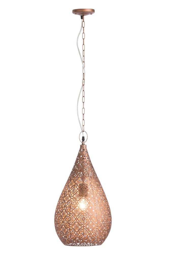 J-line Lamp Druppel Metaal Koper