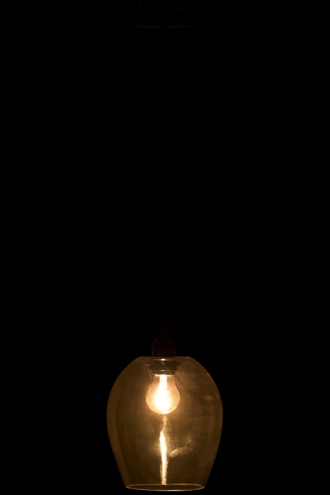 J-line Lamp Plafond Bol Amber Large-86165-5415203861658