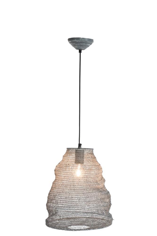 J-line Hanglamp Gaas Metaal Donker Grijs Small