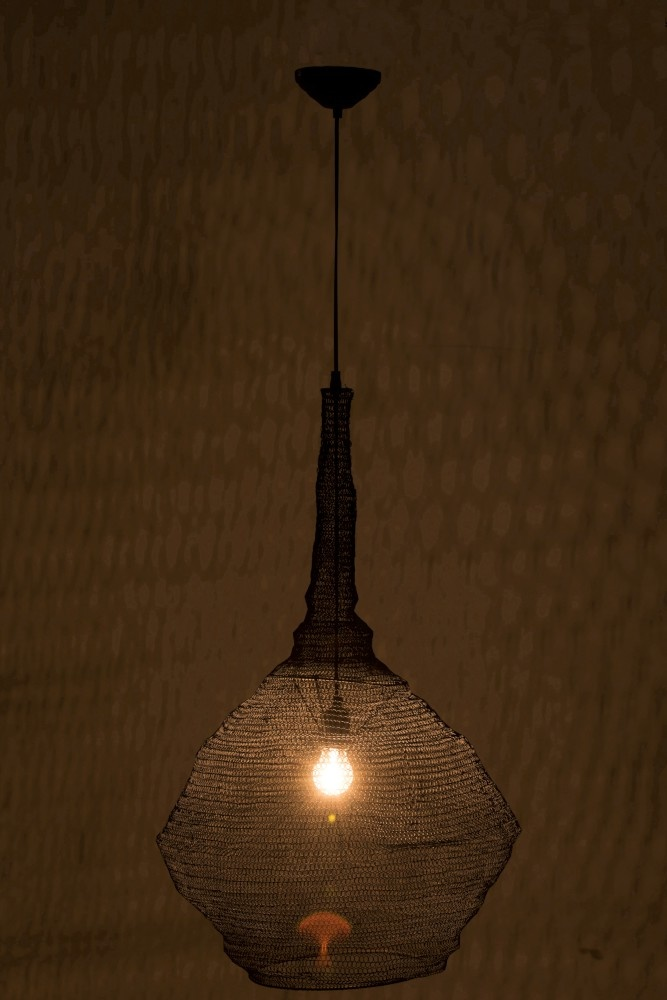 J-line Hanglamp Gaas Metaal Mat Zwart Large-88057-5415203880574