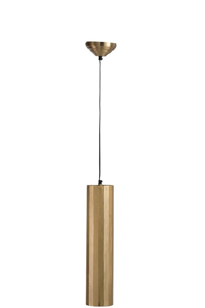 J-line Hanglamp Cilinder Metaal Goud Medium-88066-5415203880666
