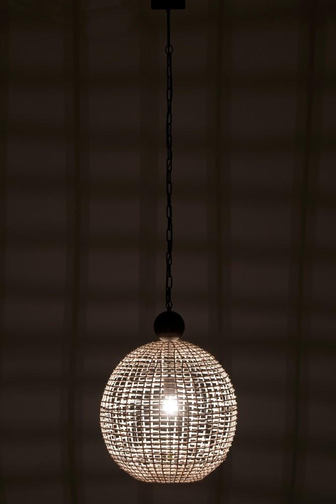 J-line Hanglamp Bol Rattan Wit