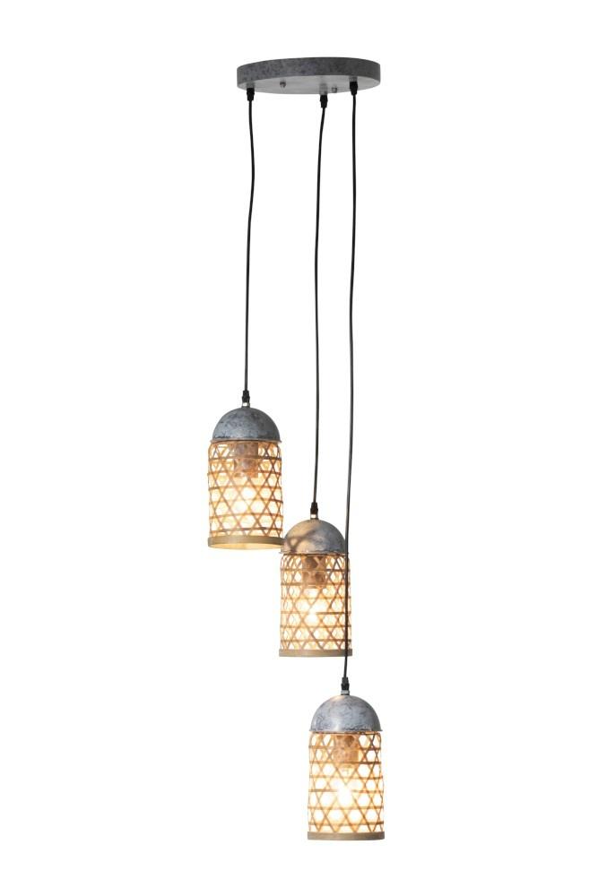 J-line Hanglampen 3 Bamboo Naturel
