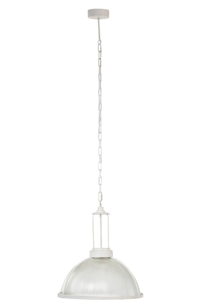 J-line Hanglamp Rond Glas/Metal Wit-90294-5415203902948