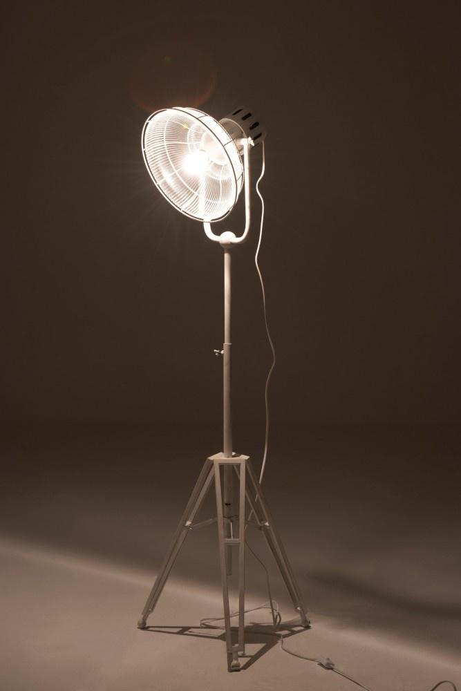 J-line Staanlamp Rond Metal/Glas Wit
