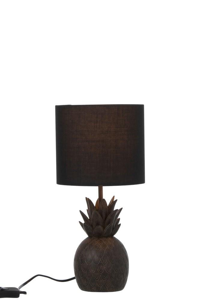 J-line Lamp Ananas Polyresin Bruin