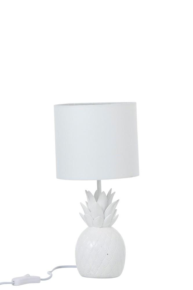J-line Lamp Ananas Polyresin Wit-90555-5415203905550