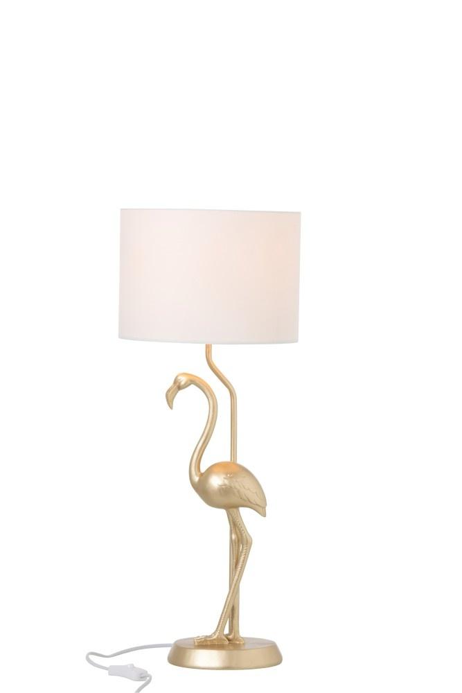 J-line Lamp Flamingo Polyresin Goud