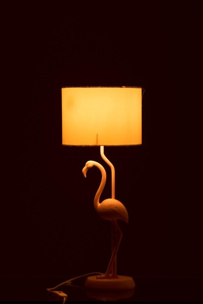 J-line Lamp Flamingo Polyresin Roze