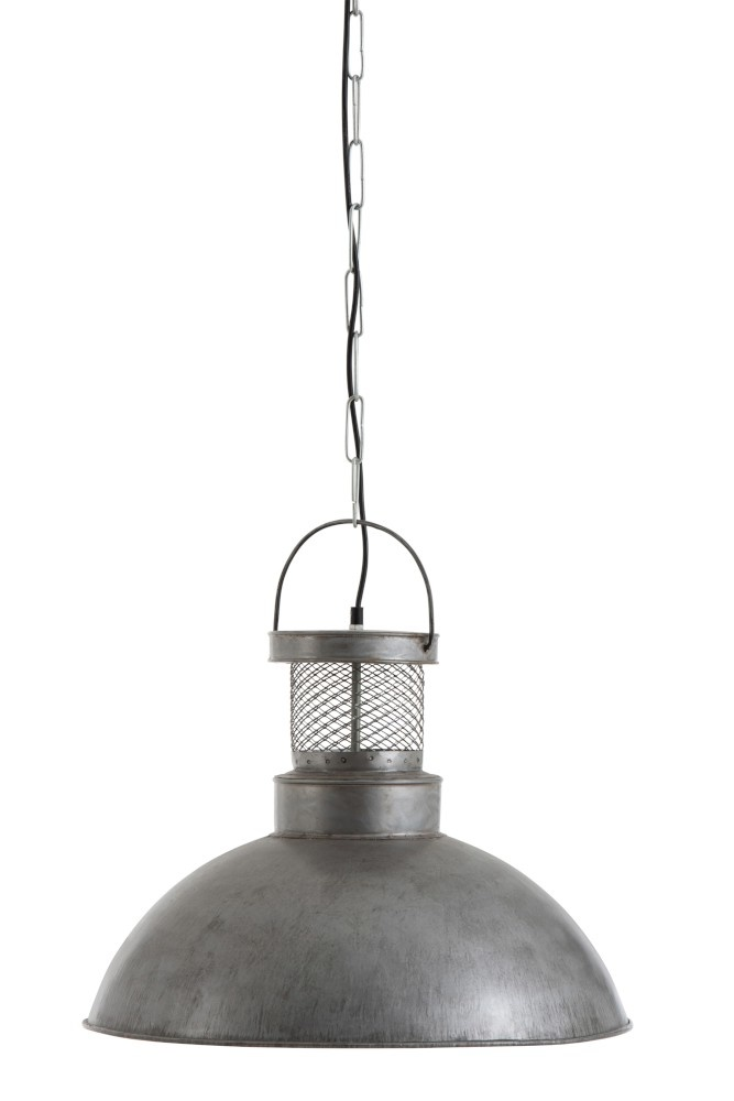 J-line Hanglamp Adel IJzer Zilver