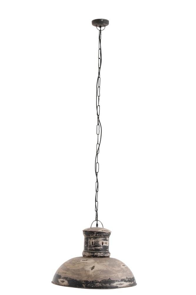 J-line Hanglamp Adel IJzer Grijs-91095-5415203910950