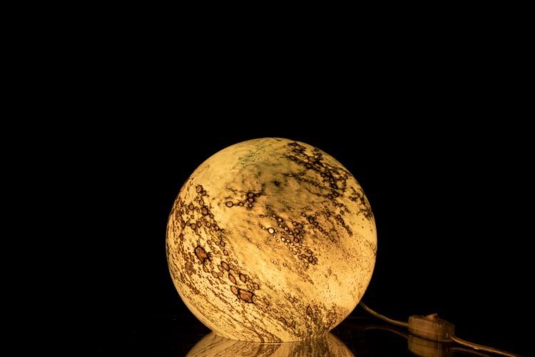 J-line Lamp Dany Rond Glas Groen S-91104-5415203911049