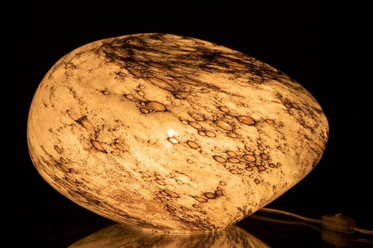 J-line Lamp Dany Ovaal Glas Grijs