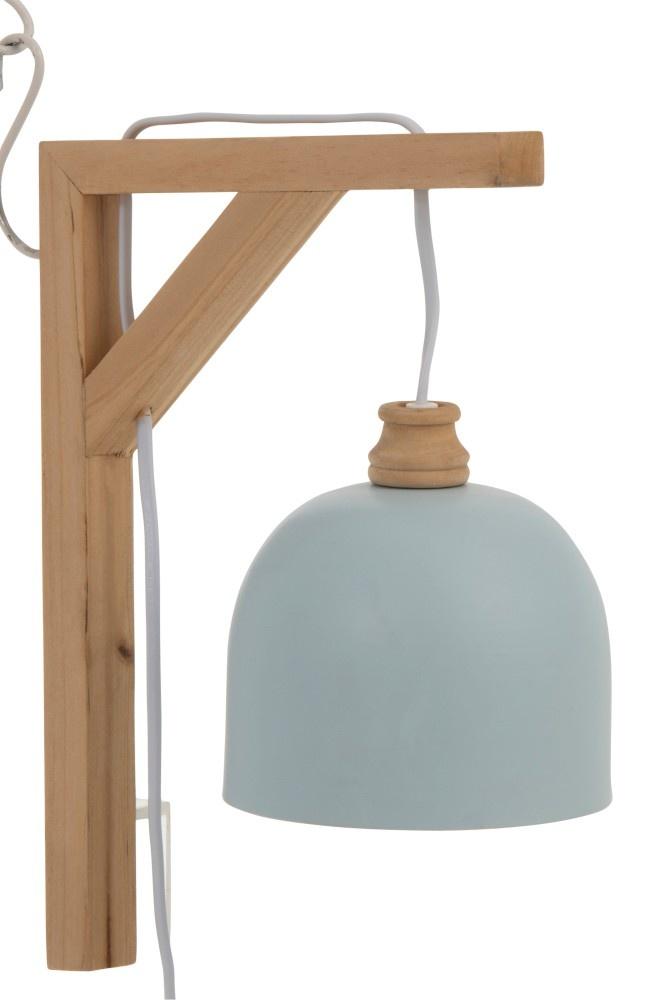 J-line Muurlamp Denis Sparhout/Metaal Lichtblauw-91420-5415203914200