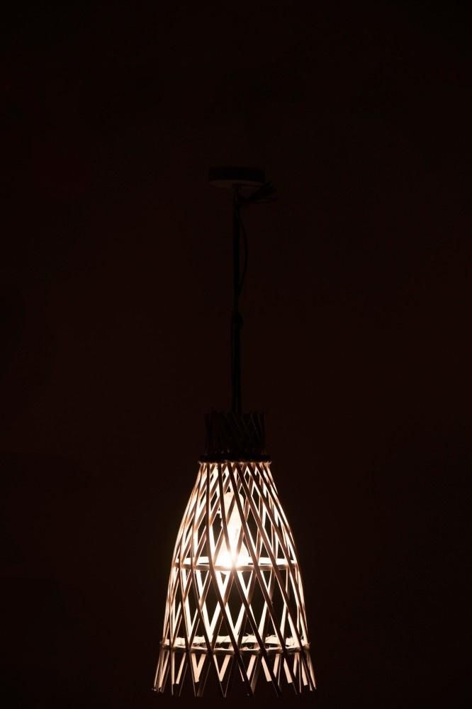 J-line Hanglamp Ibiza Bamboe Wit Small-91430-5415203914309