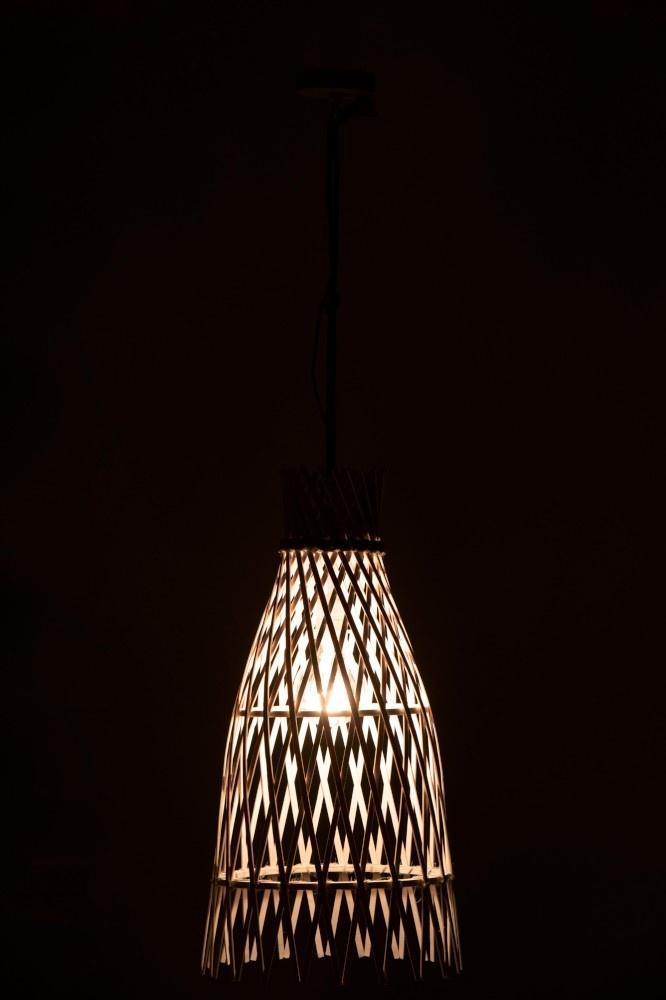 J-line Hanglamp Ibiza Bamboe Wit Large-91431-5415203914316