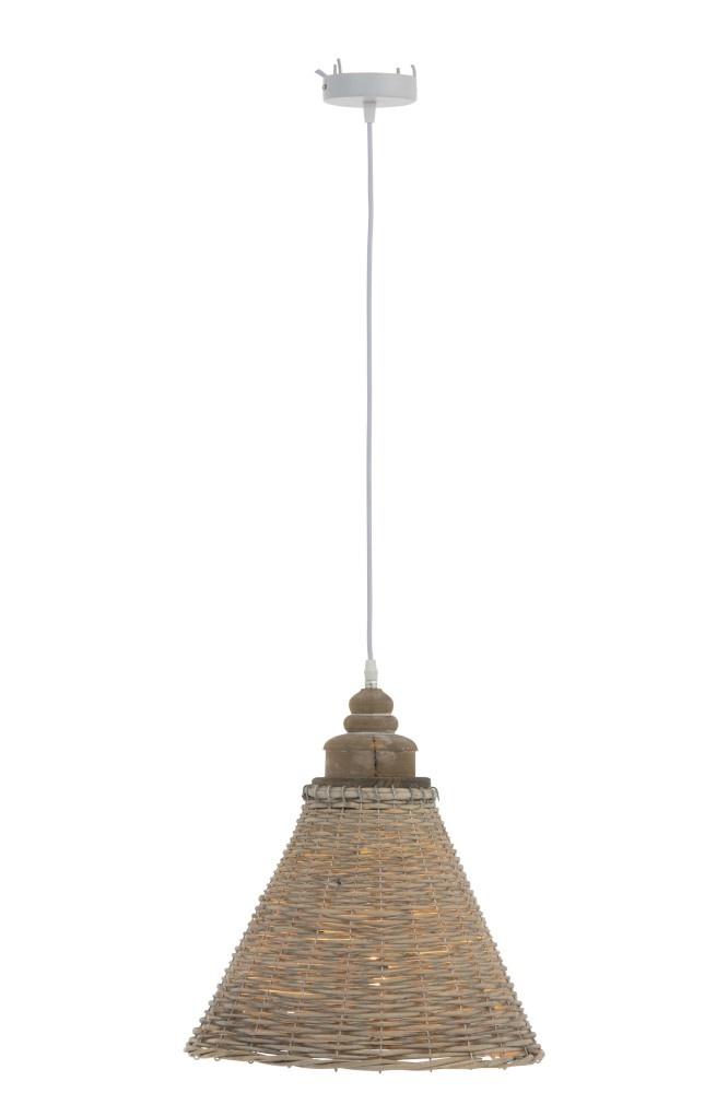 J-line Hanglamp Conisch Rotan Naturel