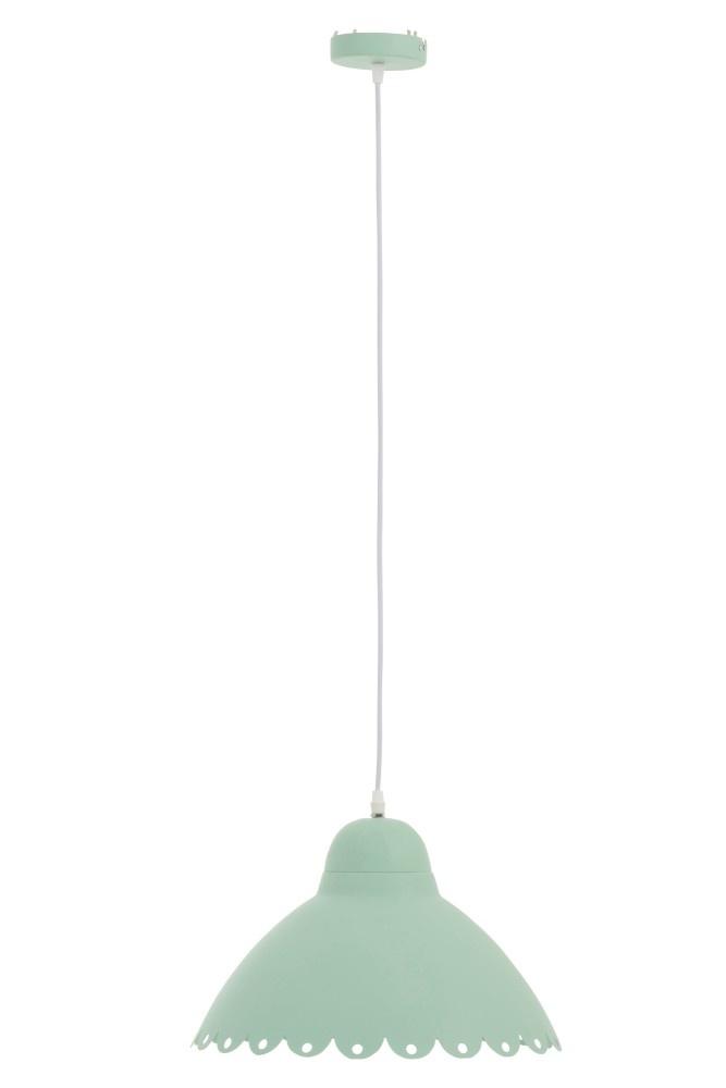 J-line Hanglamp Bloem Candy Metaal Lichtgroen-91444-5415203914446