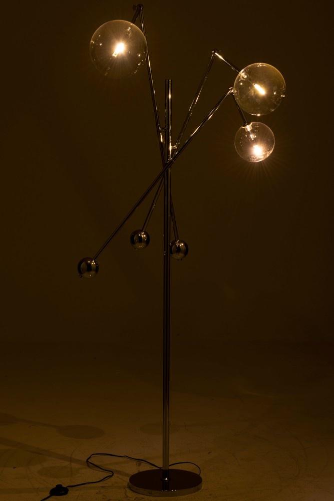 J-line Lamp Staand Slinger 3Lampen Aluminium Zilver