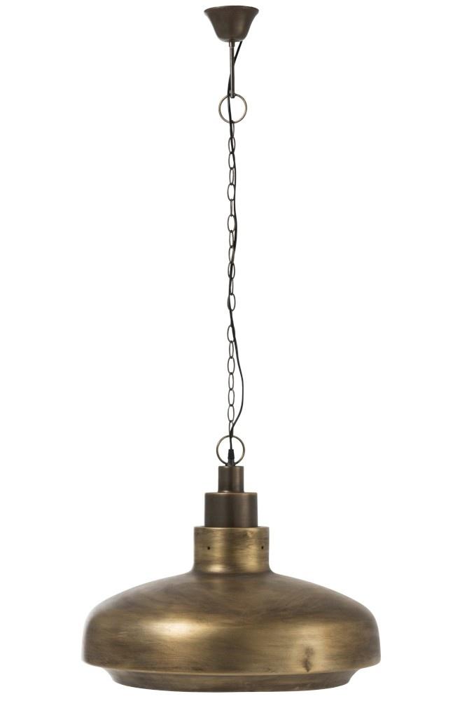 J-line Lamp Hang Breed Rond Metaal Antiek Goud-92260-5415203922601