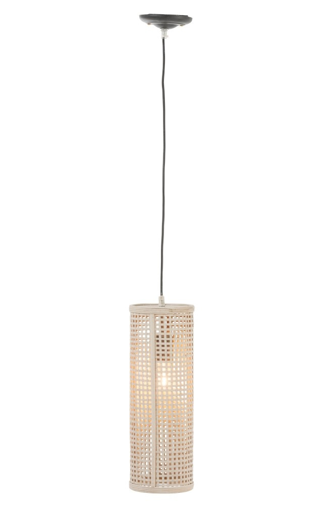 J-line Lamp Hang Raster Rond Bamboe Beige Small-92263-5415203922632