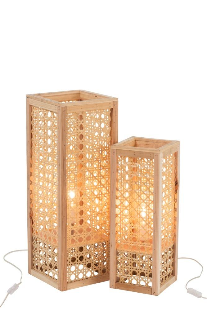 J-line Lamp Rechthoek Bamboe Naturel Large