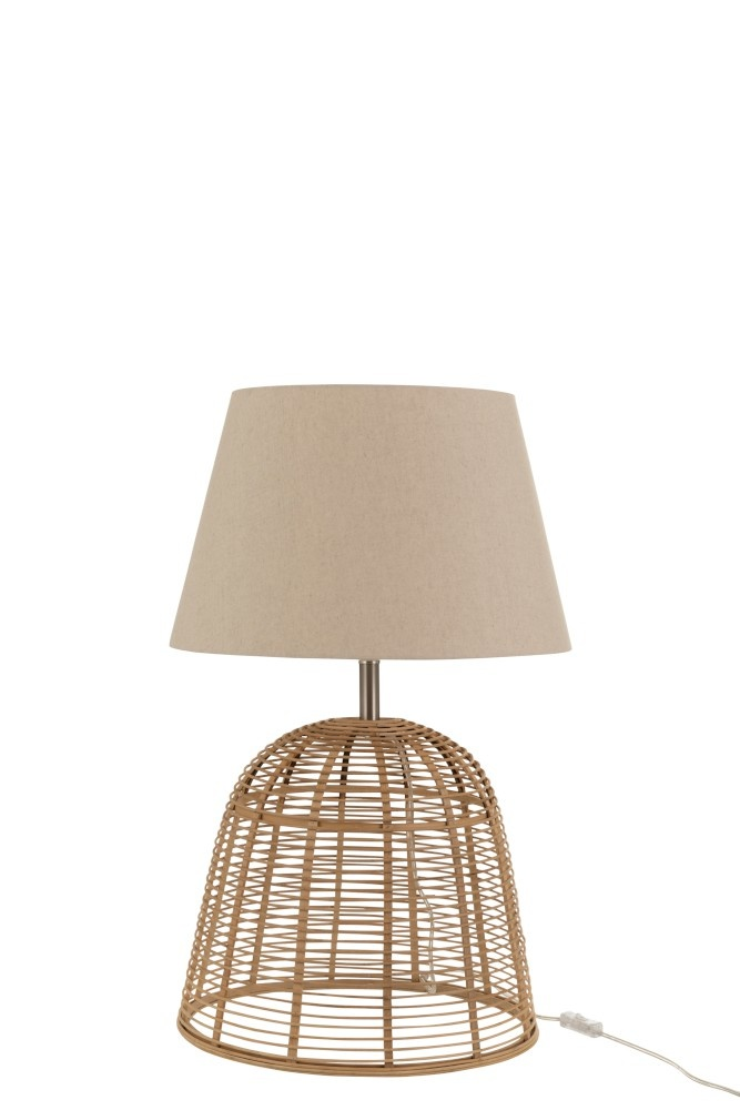 J-line Lampvoet+Kap Spijlen Bamboe Naturel Small